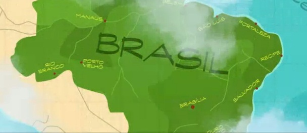 Rio 2 Brazil map