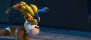 RIO luiz running with Blu in his fruits