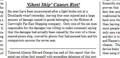 Ghost Ship Article