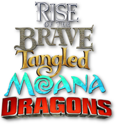 Rise of the Brave Tangled Moana Dragons Logo