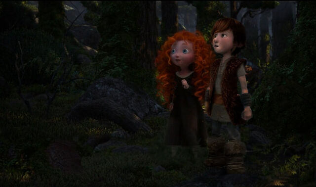 File:Little hiccup and merida in the forest by valfrika-d68vzfc.jpg