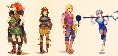 Big four genderbends by maby chan-d76m1uw