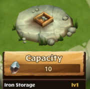 Iron Storage Lv 1
