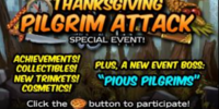 Thanksgiving Pilgrim Attack
