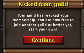 Kicked guild message