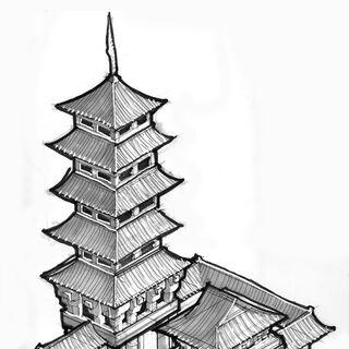 Asian Temple concept art