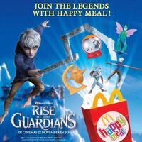 Happy Meal Rise of The Guardians Toys