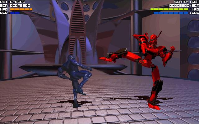 File:327152-rise-of-the-robots-dos-screenshot-cyborg-vs-sentry.png