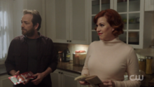 Season 1 Episode 11 To Riverdale and Back Again Fred and Mary in the kitchen