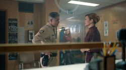 Season 1 Episode 7 In a Lonely Place Sheriff Keller and Penelope Blossom