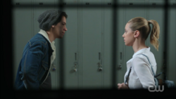Season 1 Episode 12 Anatomy of a Murder Jughead and Betty in the hall 2