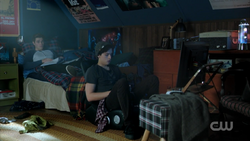 Season 1 Episode 10 The Lost Weekend Archie and Jughead in the room