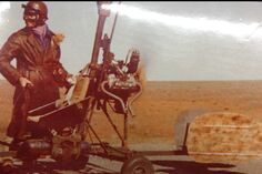 Gerry Goodwin on set if Mad Max 2