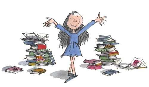 File:RD7001 - Roald Dahl - Matilda - This child seems to be interested in everything - Limited Edition Print - Quentin Blake Print - Matilda Signed Print .jpg