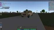 Light Brown Humvee