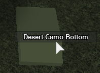 Desert camo bottom