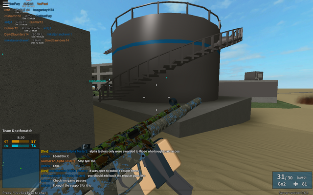 File:Examining the painted MP5SD.png