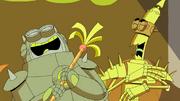 Thrasher and Blastus Laughing