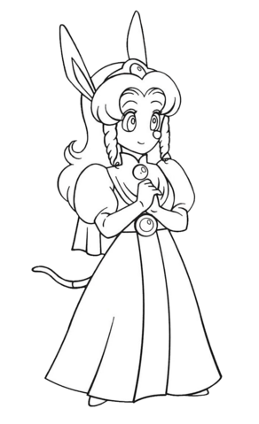 File:Princess Cherry (Sparkster- Rocket Knight Adventures 2 Europe Manual Line Artwork).png