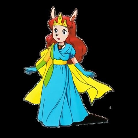 File:Princess Flora (Sparkster SNES Official Artwork).png