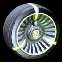 Turbine wheel icon saffron