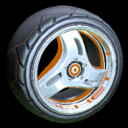 Triplex wheel icon burnt sienna