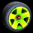 Fireplug wheel icon lime