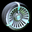 Turbine wheel icon sky blue