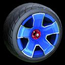 Fireplug wheel icon cobalt