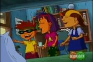 The Rocket Gang laughing at Sammy