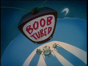 Boob tubed title card