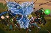 Heroes against lizardmen by markatron2k
