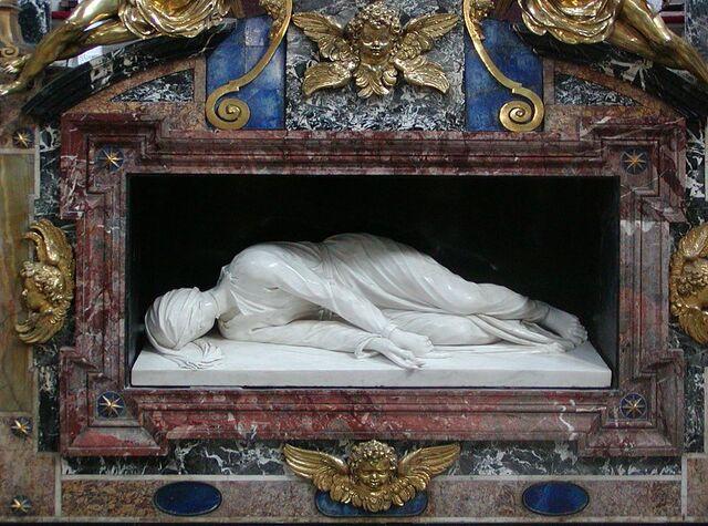 File:Santa Cecilia in Trastevere tomb.jpg