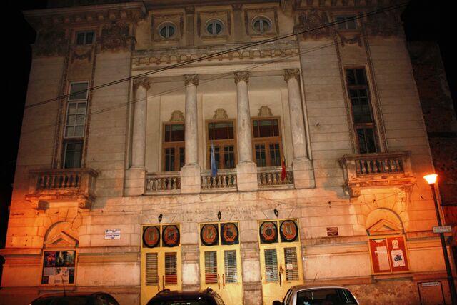 """Fișier:Palatul """" Lyra"""" 1924 - vedere de noapte.jpg"""