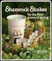 McDonalds Shamrock Shake ad