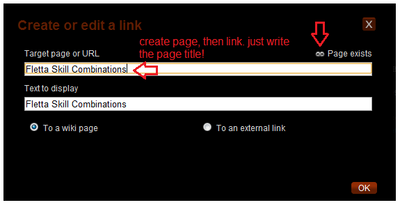 Wiki linking snippit