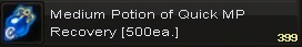Medium potion of quick mp(500)