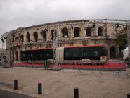 Nîmes - Présentation TCSP Arènes - Aspect extérieur