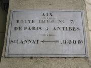Plaque Route Impériale 7 - Aix-en-Provence.JPG