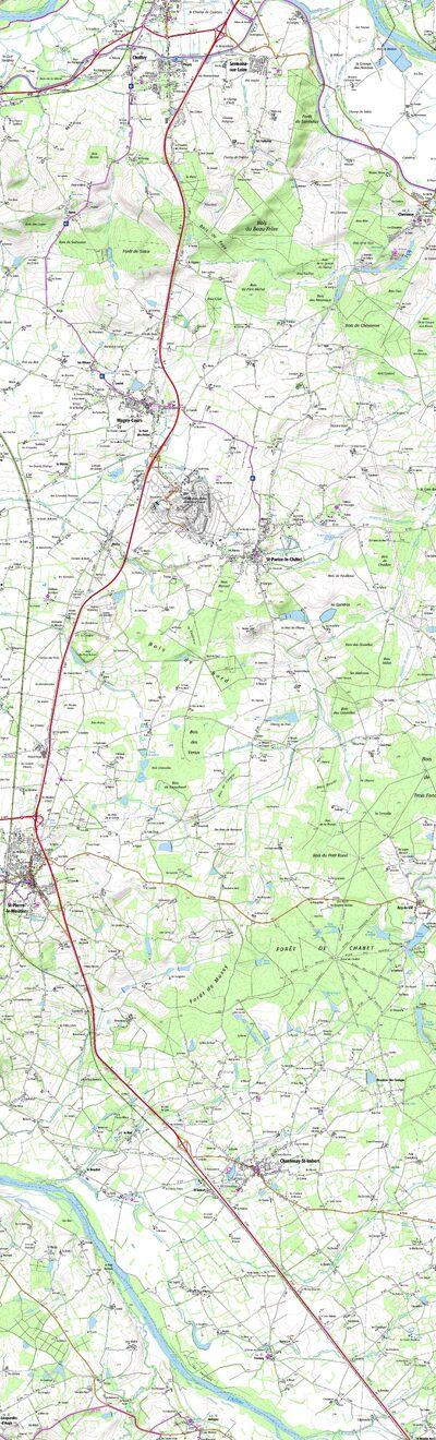 Carte du futur tracé de la RN7 entre Nevers et la limite Sud de la Nièvre lorsque les travaux de mise à 2x2 voies seront réalisés  © Frantz58
