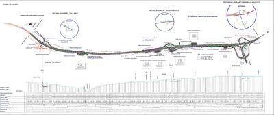 Plan de l'A77 entre Moiry-sud et le diffuseur de Saint-Pierre-le-Moûtier. © Frantz58