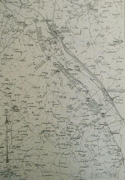 Aménagement RN7 de Briare à Bonny 1975