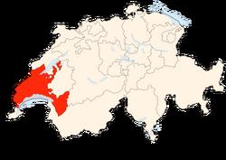 Situation Canton Vaud