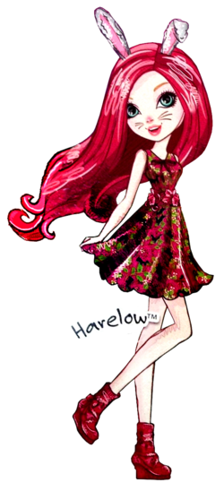 Profile art - Harelow