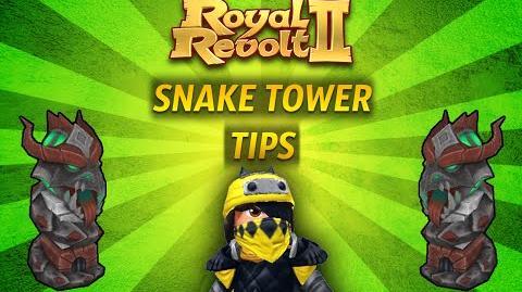 Royal Revolt 2 - Tutorial Snake Tower Tips!