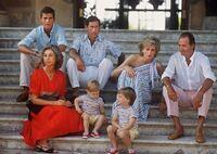Diana and Charles visiting Juan Carlos and family