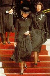 Princess Diana at Grace of Monaco's funeral
