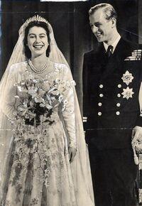 Elizabeth II and Prince Philip's wedding