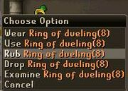 Ring of duel