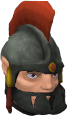Peth's armoured head